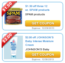 COUPONS.com $$ New Month = New Printable Coupons from Coupons.com: Spam, Johnson's Baby & Tons More (11/1)!