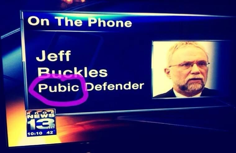KRQE News Broadcast hilarious typo that aired and was on the