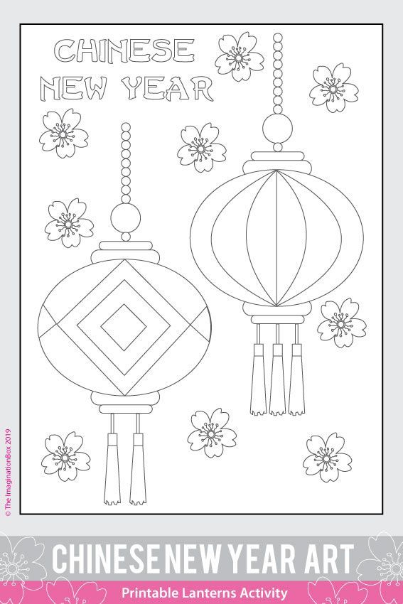 Chinese New Year Easy Classroom Ideas and Printable Coloring Pages For Kids