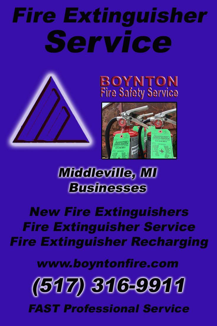 Fire Extinguisher Service Middleville, MI (517) 316-9911 We