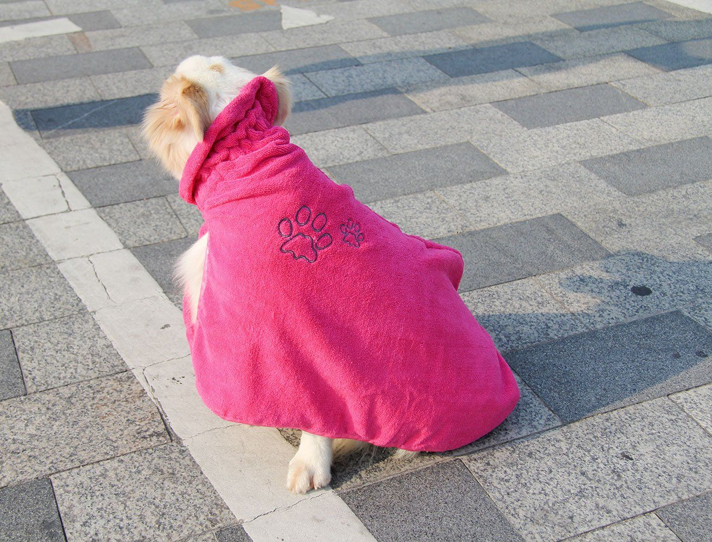 Dog Bathrobe Quick Drying Microfiber Bathrobe For Dog Cat Pet