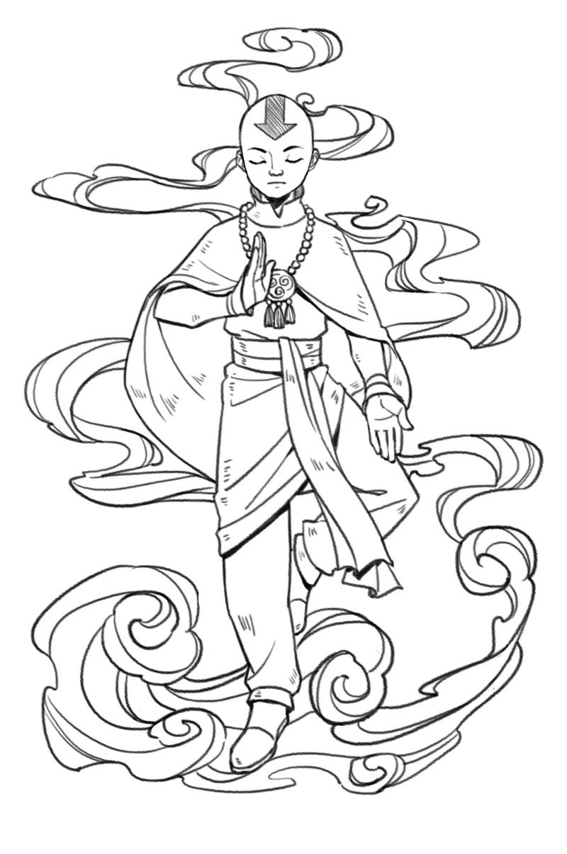 Http Zeddfro Tumblr Com Post 166570998536 Inktober Day 19 Cloud Avatar The Last Airbender Art Avatar Aang Avatar Airbender
