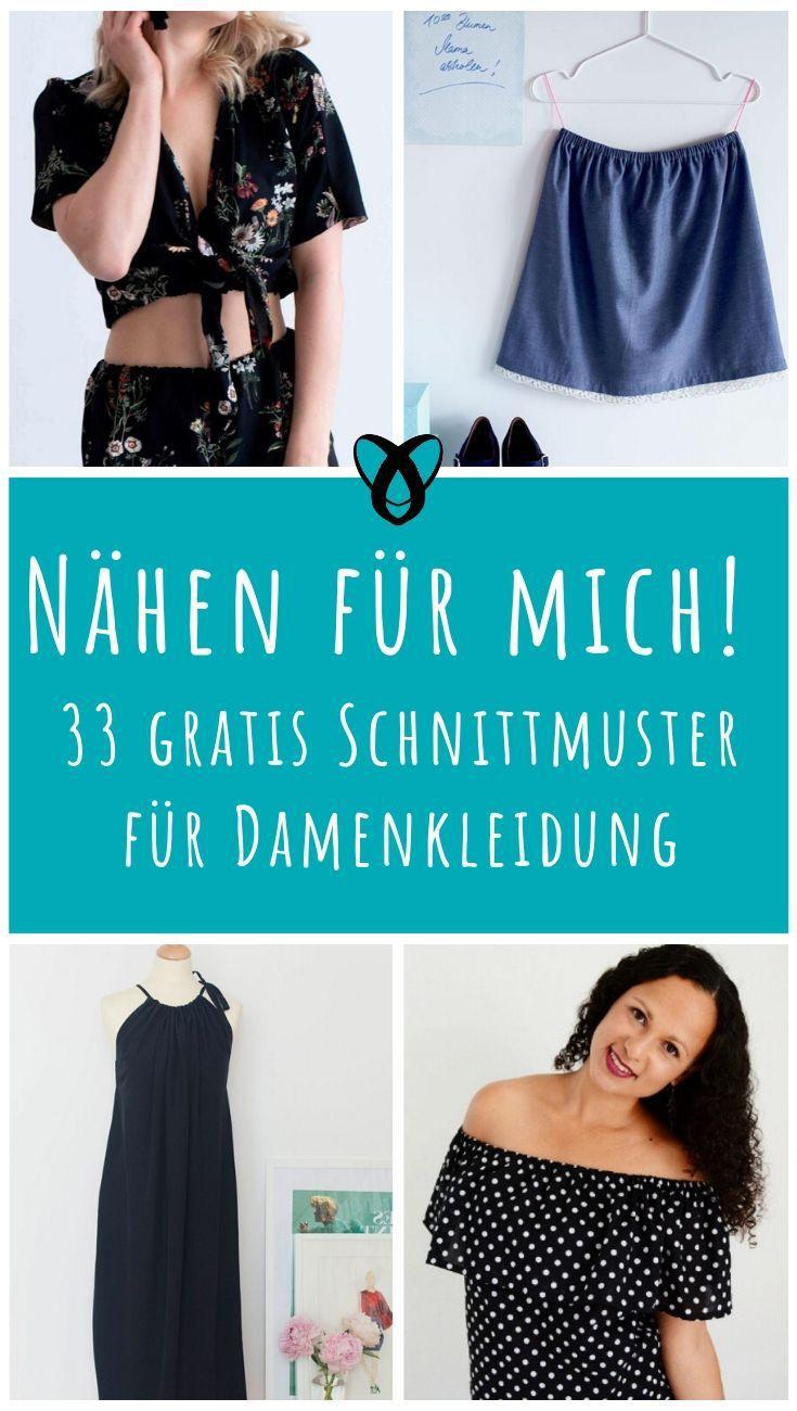 Cousez pour moi! 33 patrons de couture gratuits pour femmes   – Schnittmuster