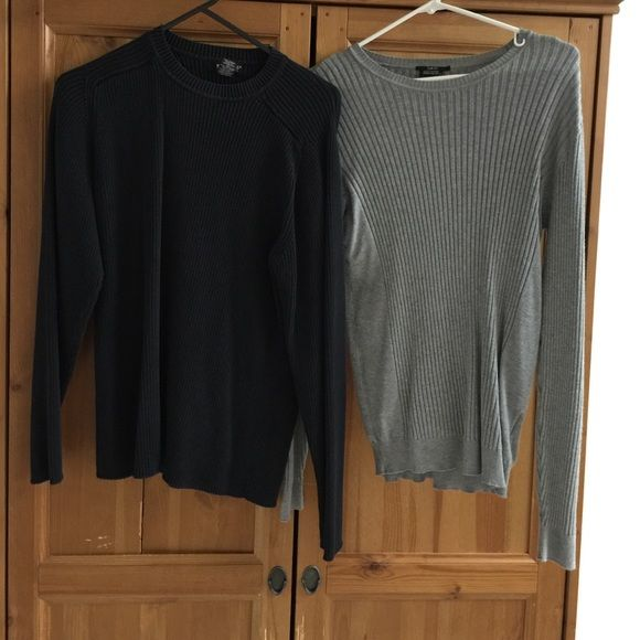2 sweaters Slates black sweater & smog slim fit sweater both fit size mediun Sweaters