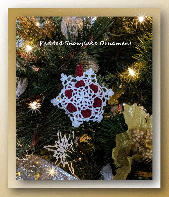 snowflake table decorations.htm padded snowflake ornament christmas ornament pattern  snowflake  christmas ornament pattern