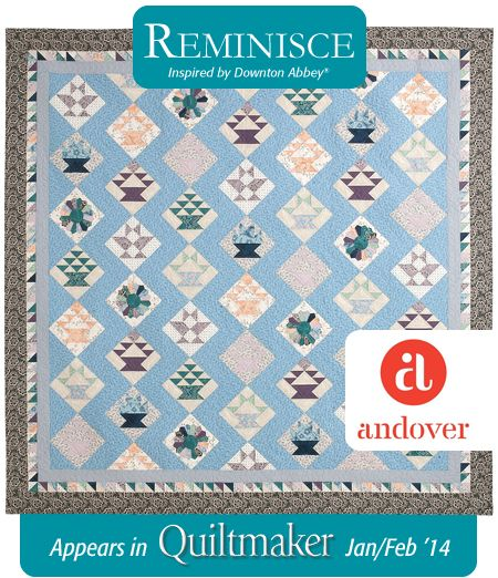 Quiltmaker + Downton Abbey + Andover = Fabulous Quilt! Kit also ... : downton abbey quilt kits - Adamdwight.com