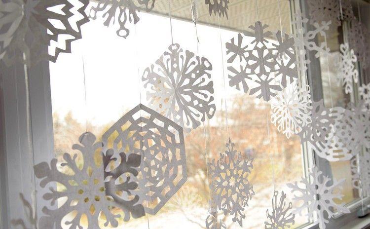 Weihnachtsdeko Fenster Selber Machen Papier Schneeflocken