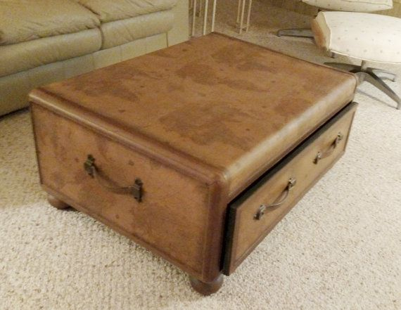 Vintage World Map Coffee Table Trunk by LoveNewfs on Etsy Bah Bye