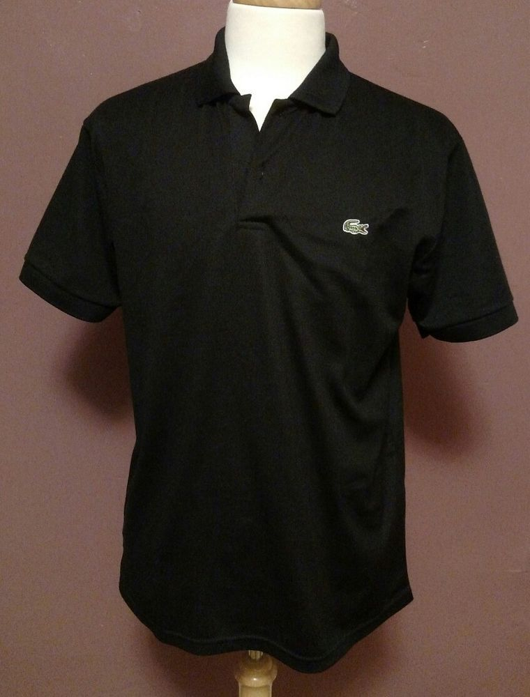 58686e3607f7 Lacoste Men s Black Long Sleeve Polo Shirt Size XXL  Lacoste  PoloRugby