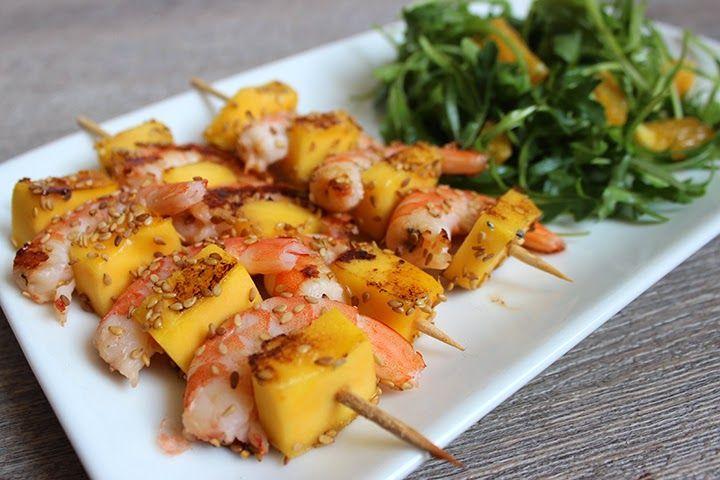 Brochettes de crevettes au porto | Recette | Brochette