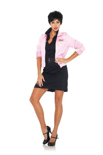 Pink Ladies logo jacket with interchangeable \u0027Rizzo\u0027 and \u0027Frenchie - greaser halloween costume ideas