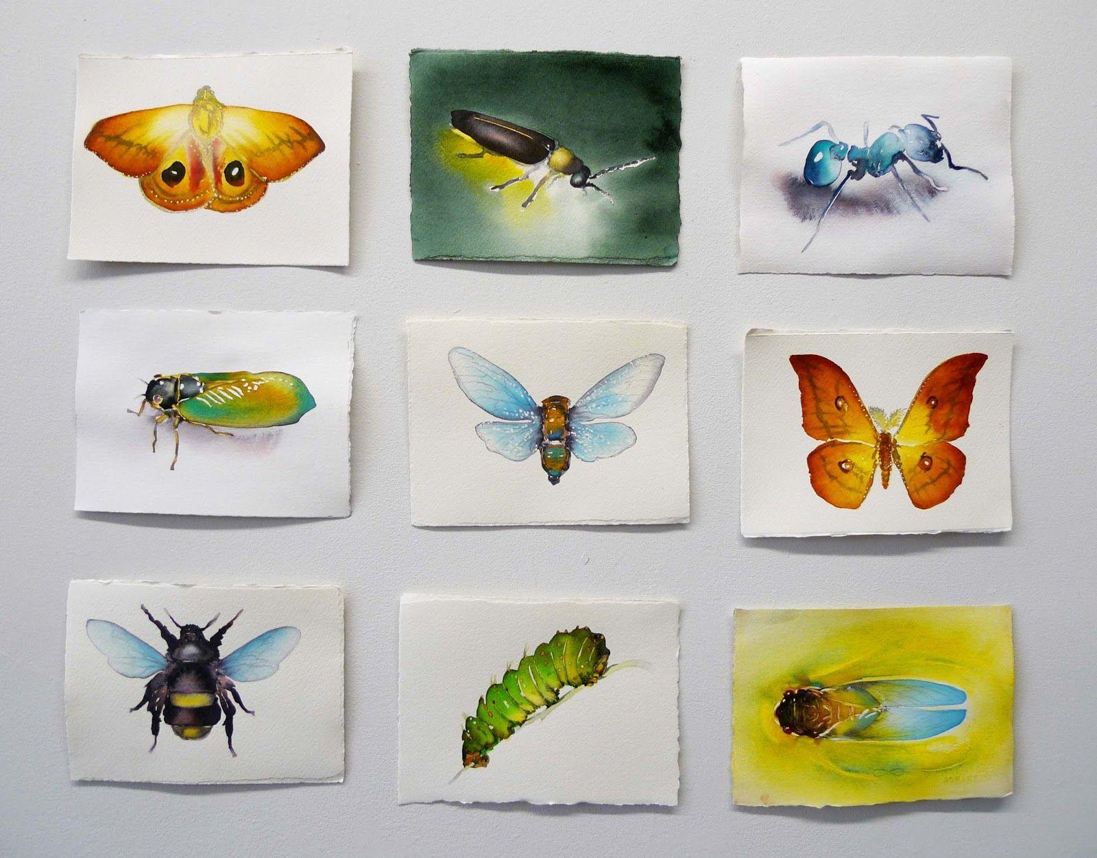 Carol Carter-Watercolor  paintings: Small Intruders- watercolor
