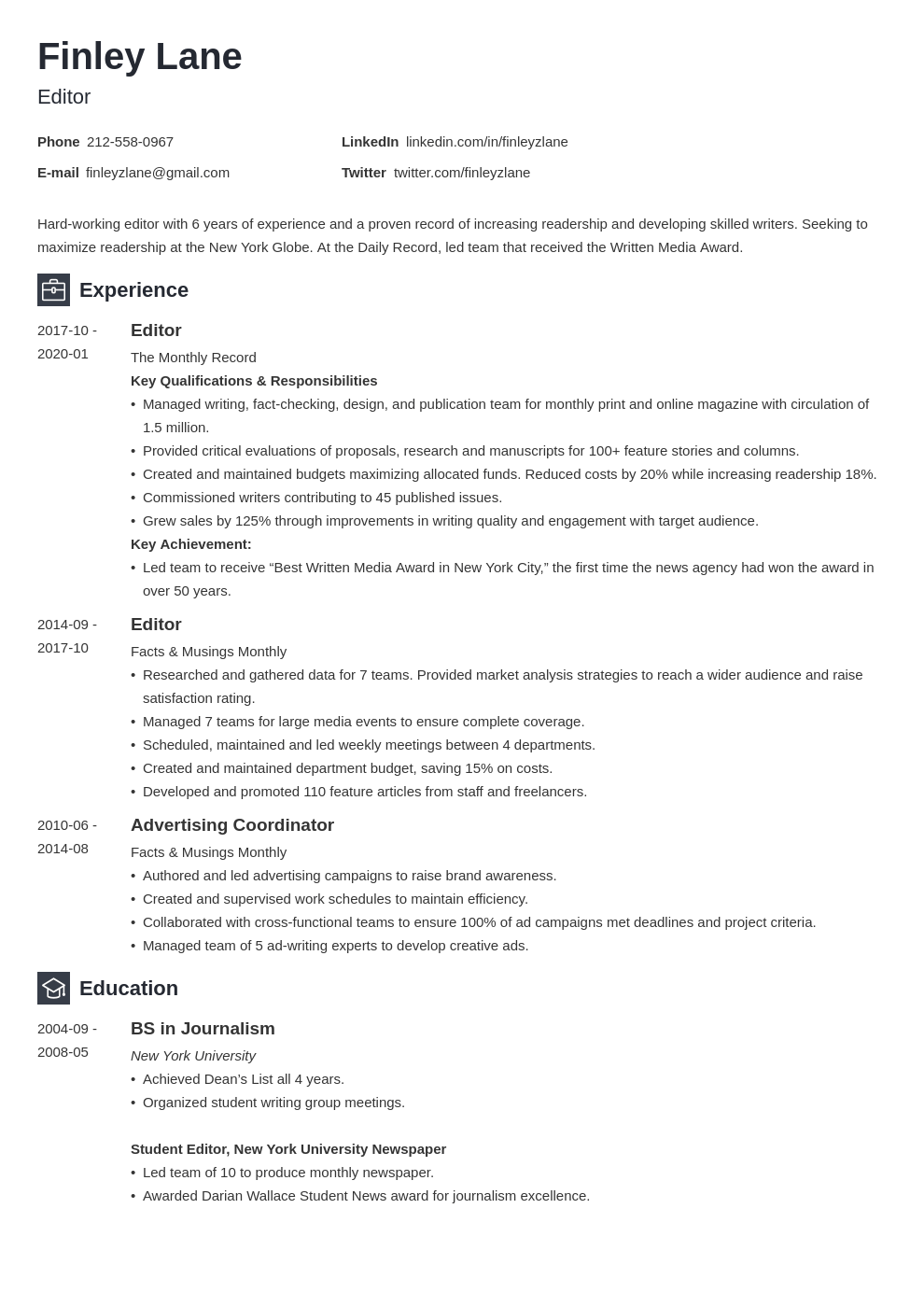 Editor Resume Example Template Newcast Resume Examples Guided Writing Resume