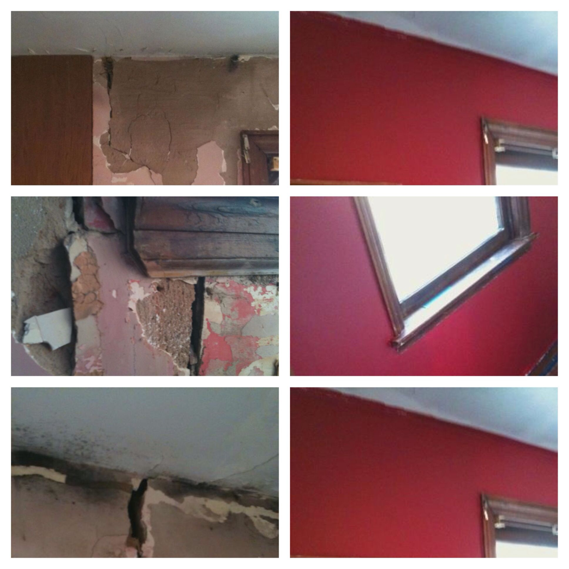 Diy Remediation S To Our Home This Example Is Of Our Boys Bedroom We Had Mold Problems Throughout The House Slo Mold In Bathroom Knock Down Wall Wall Molding