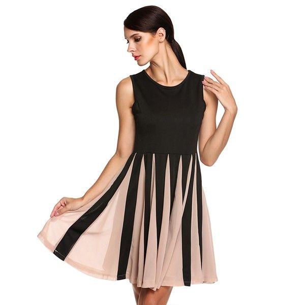 9ae6d668c ACEVOG Women Sleeveless Dress Fashion Elegant Striped Casual Summer Beach  Midi Bodycon Chiffon Dress Plus Size