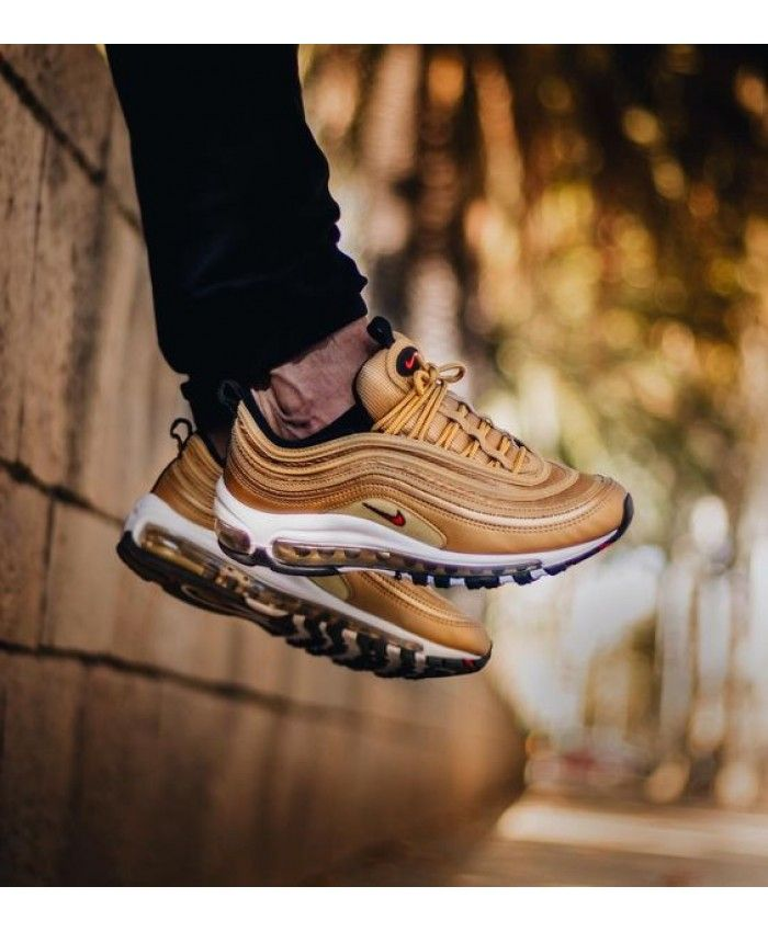 wholesale dealer 94383 14b7f Authentic Nike Air Max 97 OG QS Metallic Gold Trainers