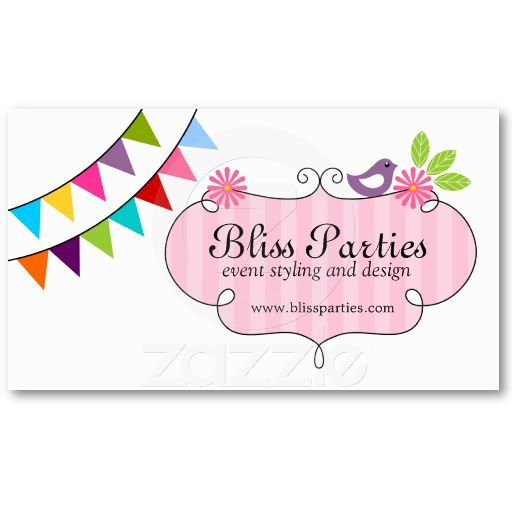 Whimsical Event Styling and Design Business Cards | Business Cards ...