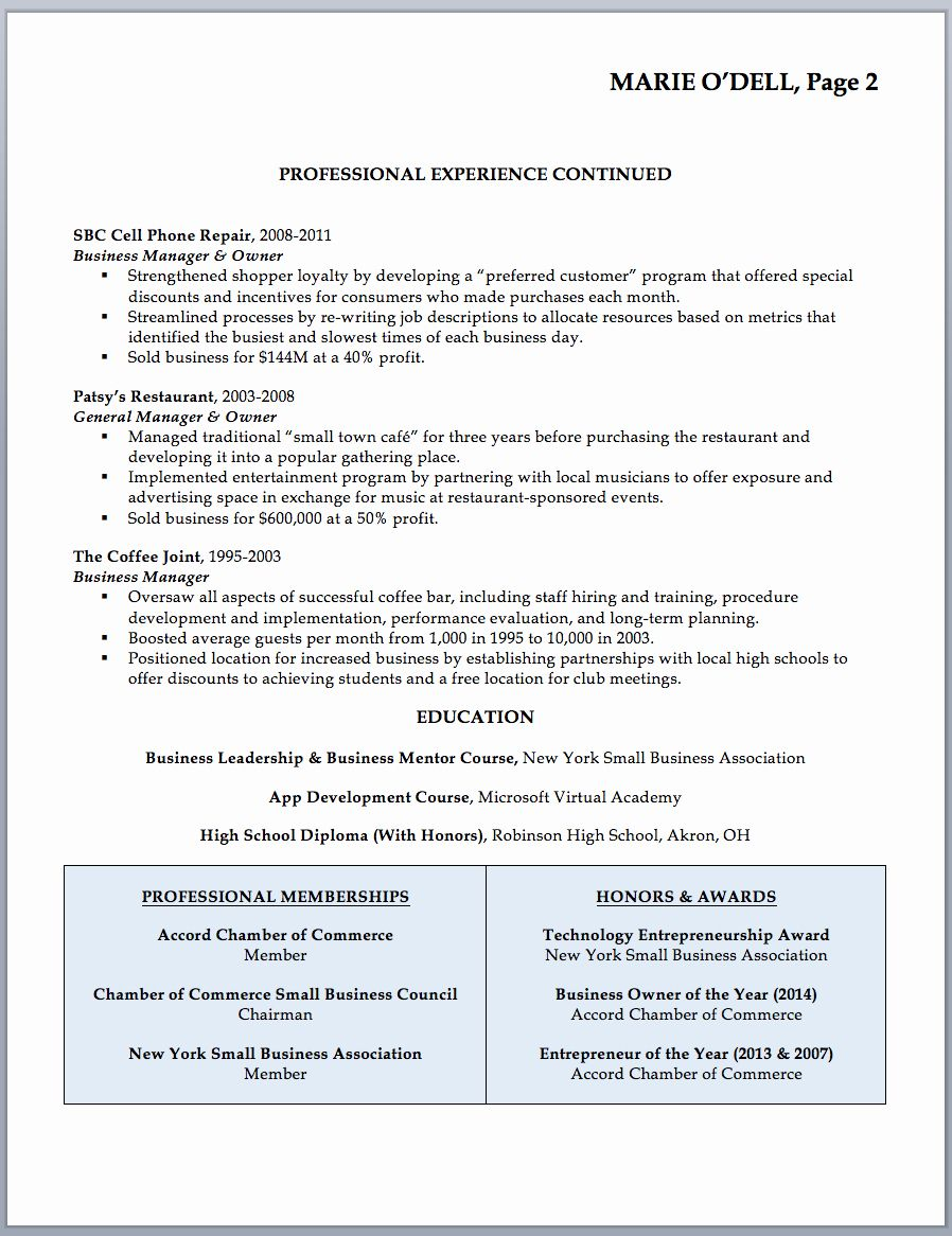 Small Business Owner Resume Sample Best Of Business Owner