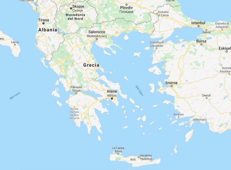 Cartina Puglia Grecia.Mappa Della Grecia La Terra Del Logos Acasamai It Mappa Grecia Patrasso