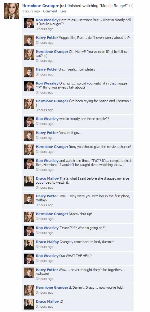 Harry Potter Vs Twilight Photo Hp Facebook Convos Harry Potter Vs Twilight Harry Potter Texts Harry Potter Fanfiction