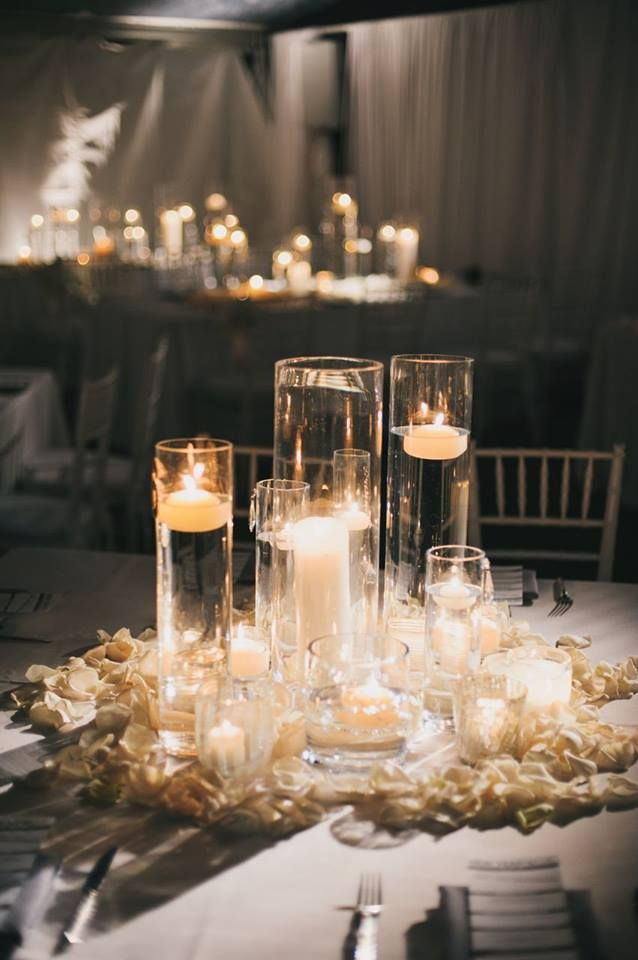 Fabulous All Candle Centerpiece Centerpieces Candle Wedding Interior Design Ideas Inesswwsoteloinfo