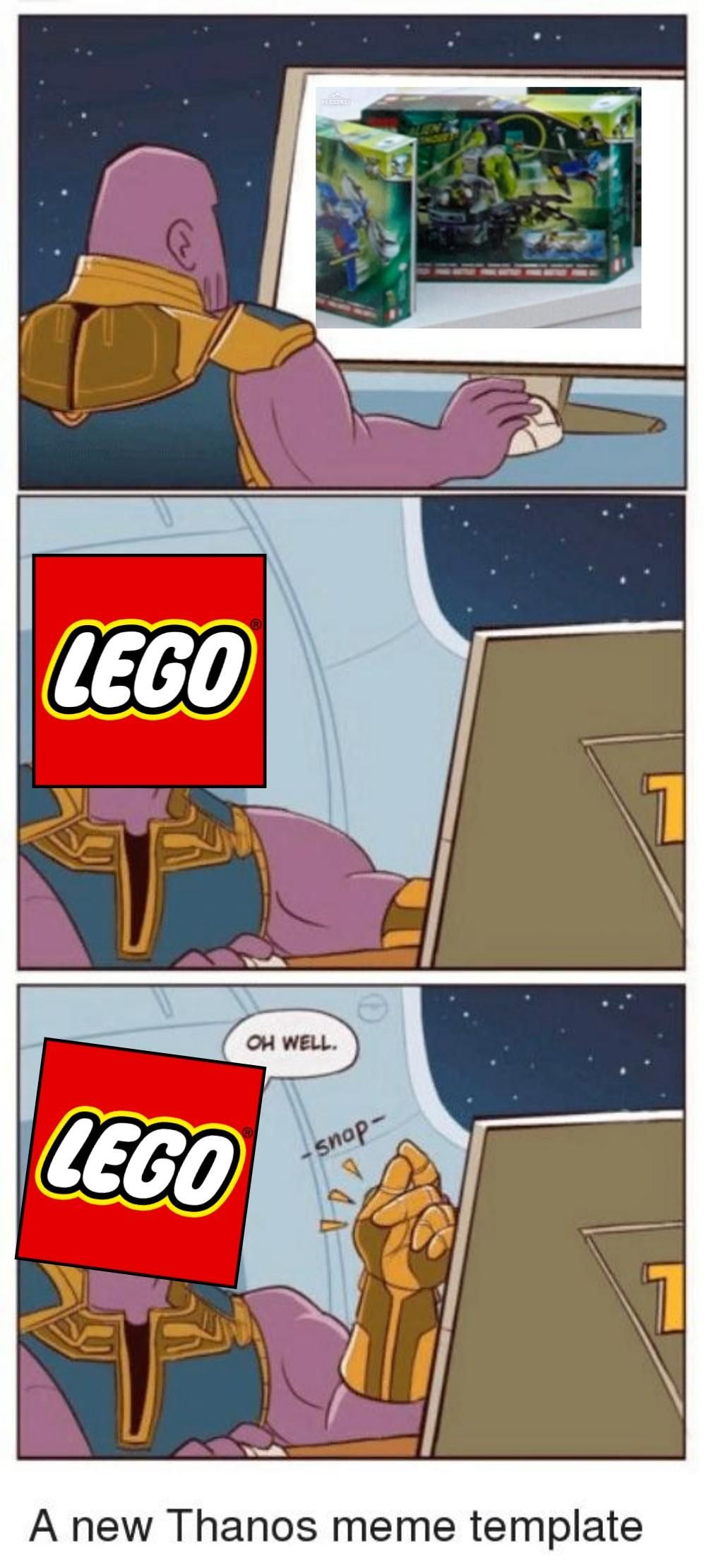 Avengers/LEGO meme with no butts just2good (With images