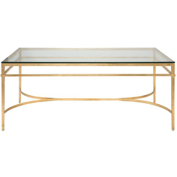 Abelard Coffee Table in Gold ❤ liked on Polyvore featuring home