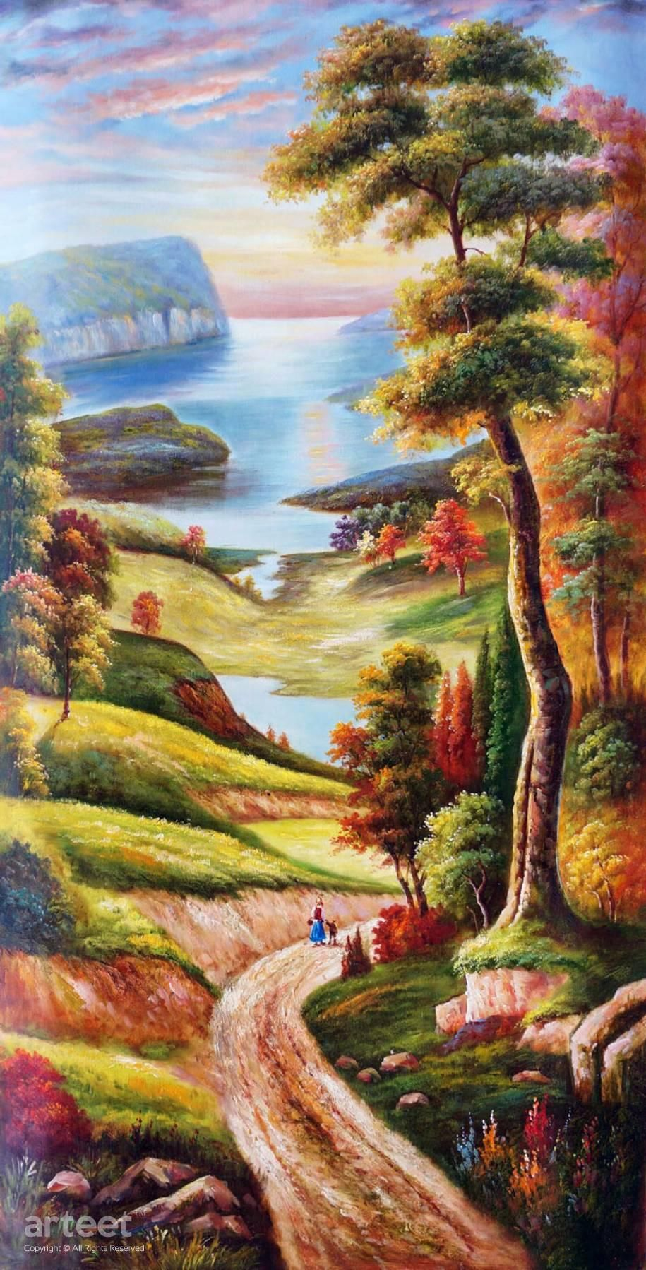 Peace in the Valley, Art Painting / Oil Painting For Sale - Arteet™