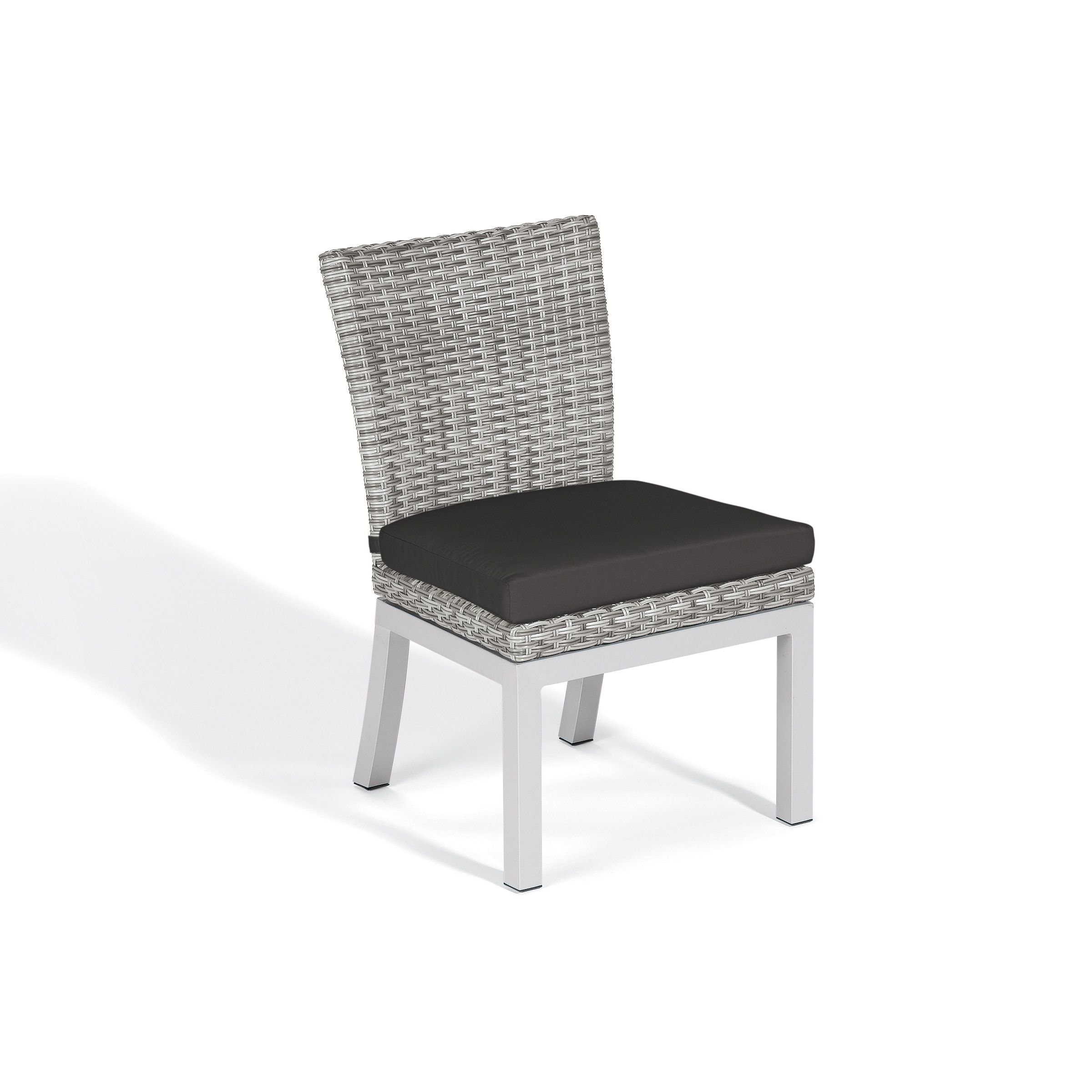 Oxford Garden Travira Woven Side Chair with Powder Coated Aluminum