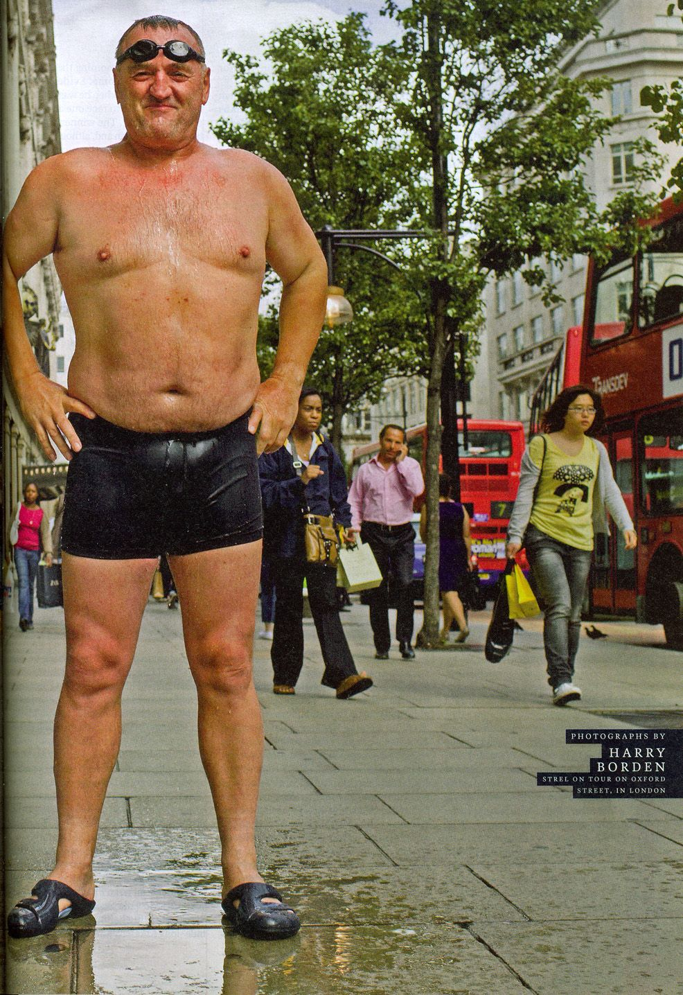 Our Marathon Swimming Legend Martin Strel Is Just Getting Ready To Swim At Oxford Street London