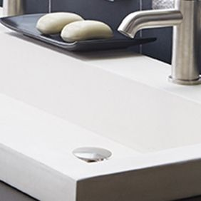 Pearl Sink With Brushed Nickel Drain | Native Trails | Nativestone | Concrete  Sink