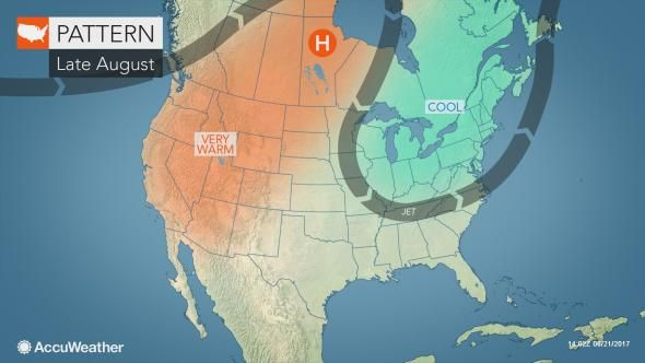 Static Jet Stream Block Late August Midwestern Cool Stuff Weather News