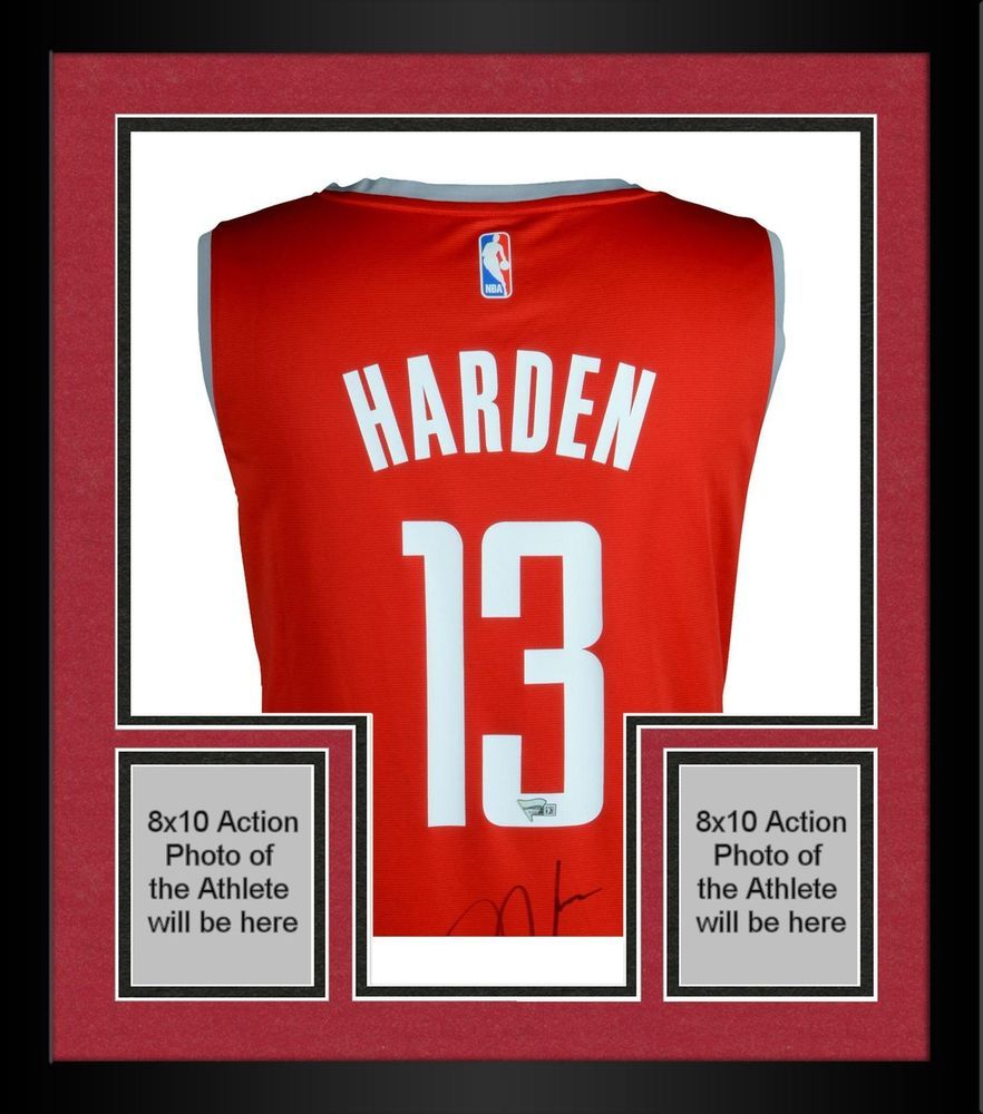 Framed James Harden Houston Rockets Autographed Red Fanatics Replica Jersey Blake Griffin Jersey