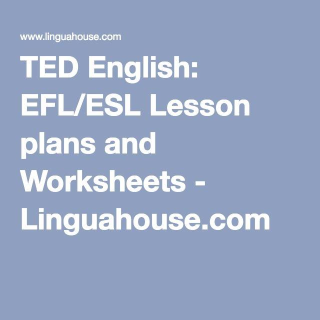 TED English: EFL/ESL Lesson plans and Worksheets - Linguahouse.com ...
