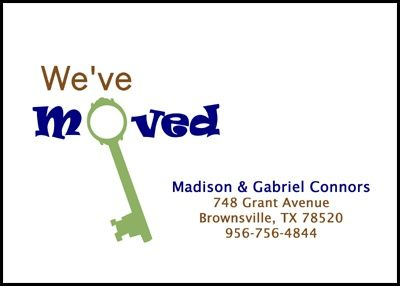 we are moving announcement cards new key designs number 7810ibu ma