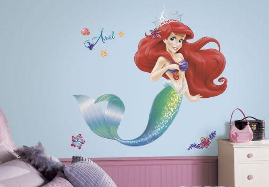 Adesivi Murali Principesse Disney.Adesivi Murali Sticker Murale Disney Ariel La Sirenetta Maxi