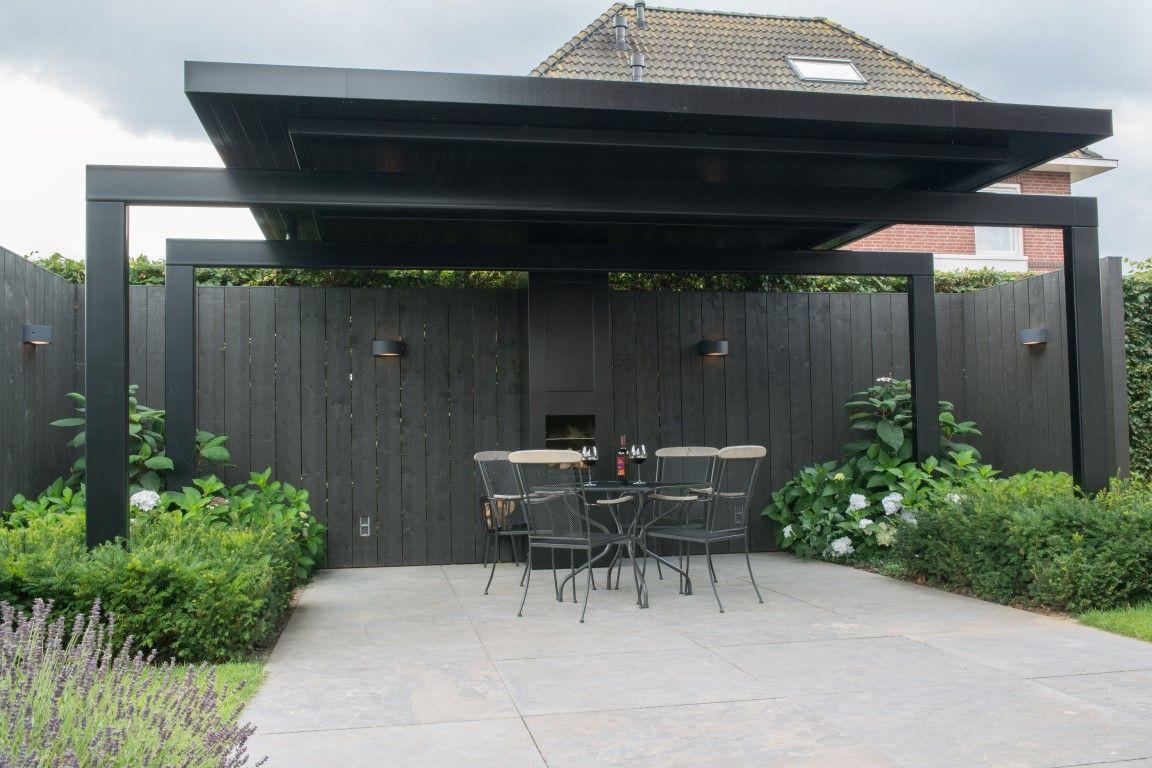 Overkappingen tuin overkapping for Moderne tuin met overkapping
