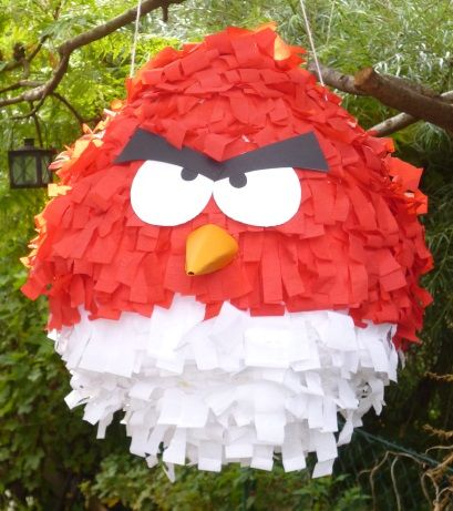 pinata angry bird party und geschenkideen pinata basteln basteln und. Black Bedroom Furniture Sets. Home Design Ideas
