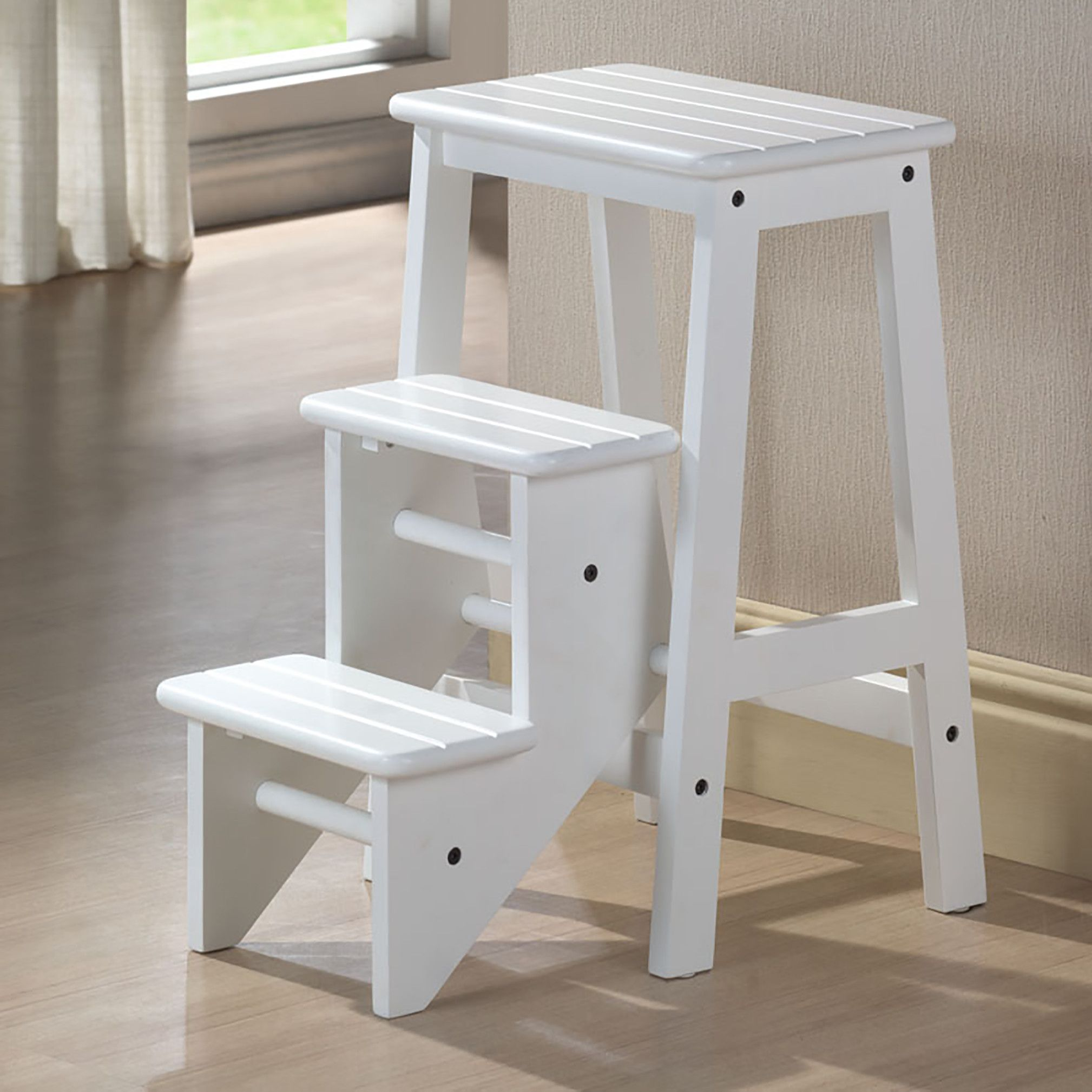 Elegant Kitchen Wooden Step Stool