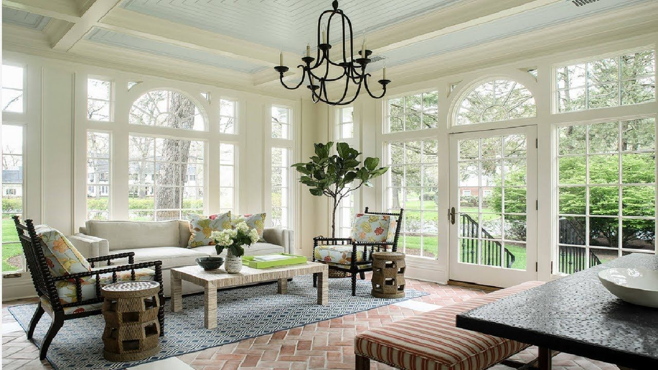 15 Good Looking Sunroom Design with Furniture and Sofa