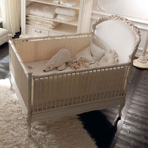 Dolce Notte Crib In Antique White and Luxury Baby Cribs in Baby Furniture :  Hand Painted - Dolce Notte Crib In Antique White And Luxury Baby Cribs In Baby