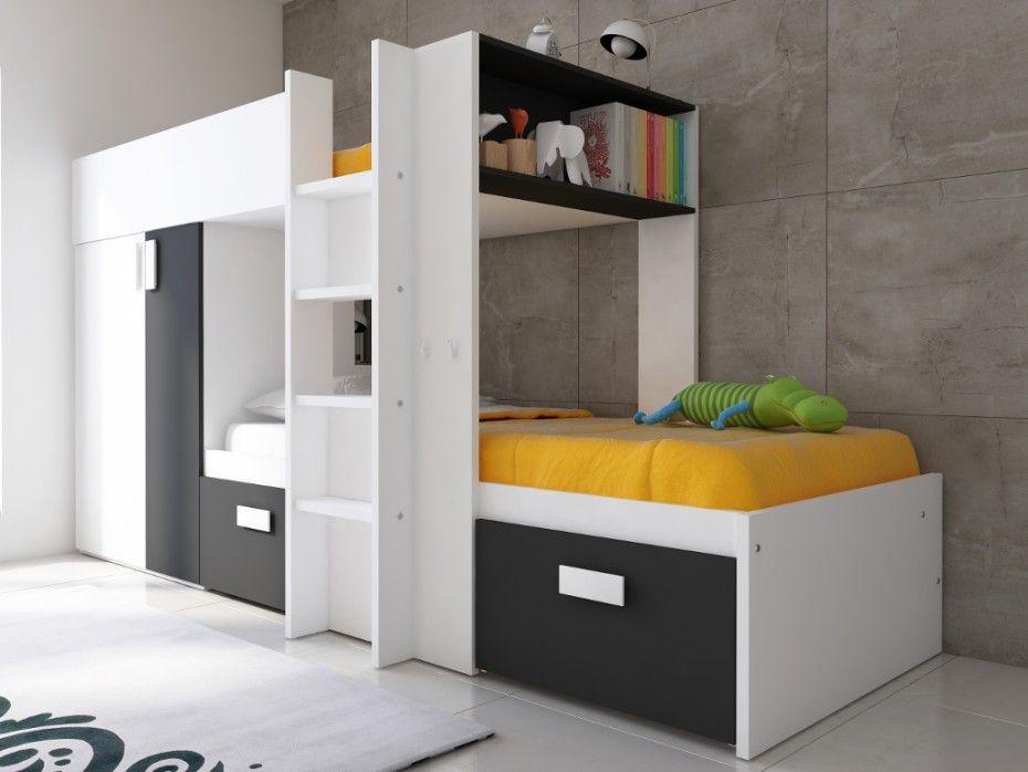Etagenbett Julien : Kinderbett hochbett etagenbett julien schwarz weiß