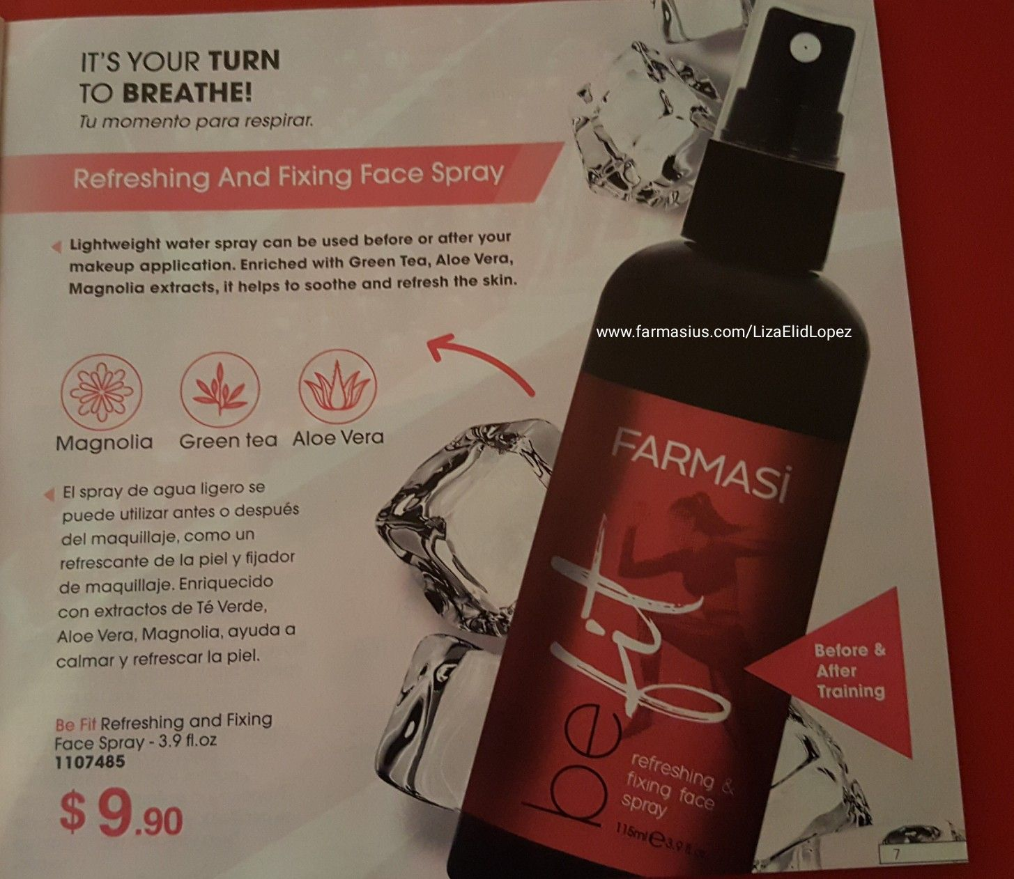 Pin By Liza Lopez On Farmasi By Liza In 2020 Face Spray Spray Can Makeup Yourself