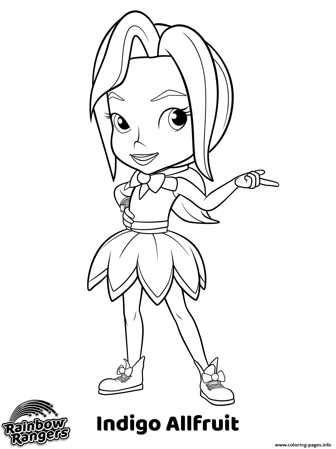 Rainbow Rangers Coloring Pages - Scenery Mountains