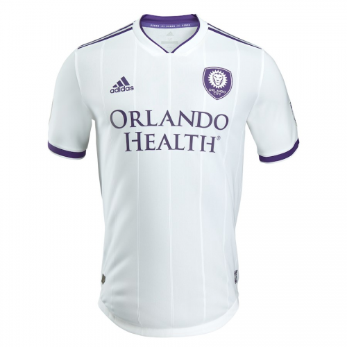 reputable site d5155 cf3c4 2018 Orlando City Away White Soccer Jersey Shirt(Player ...