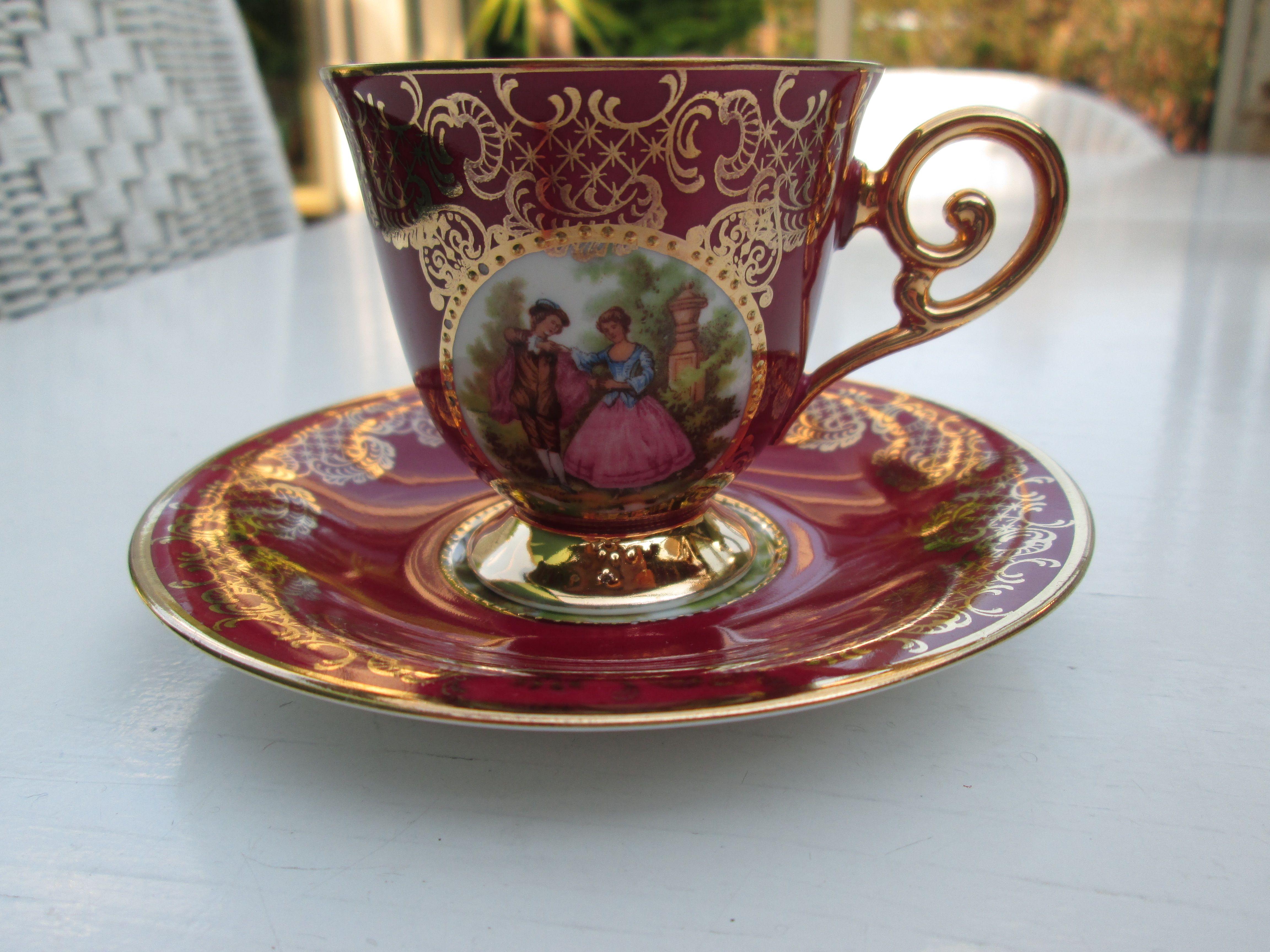 Tea cup and saucer  Bavaria Waldershof Germany