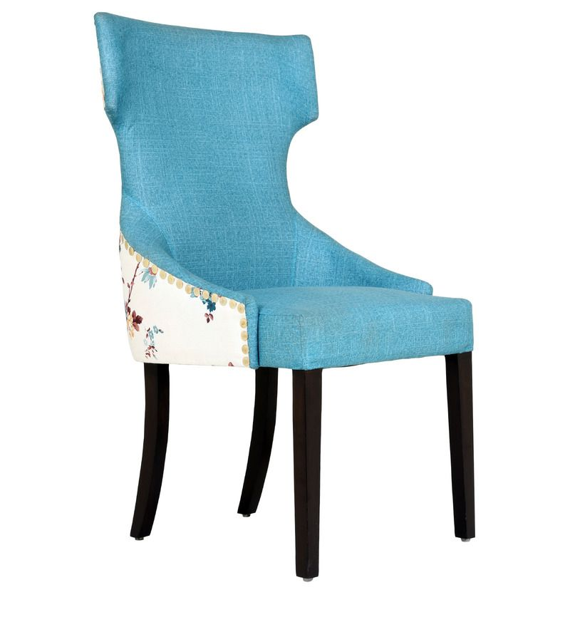 Superb Serra Accent Chair In Printed Blue Colour By Casacraft Gamerscity Chair Design For Home Gamerscityorg