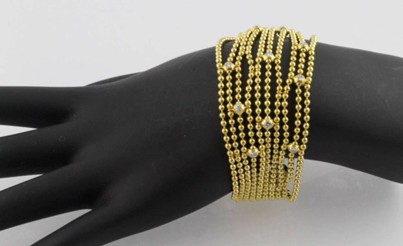 Cartier Diamond Gold Draperie de Decollete Multi-Strand Bracelet 3