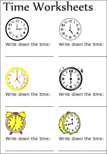 Telling Time Worksheets Grade 2 Worksheets for all | Download and ...