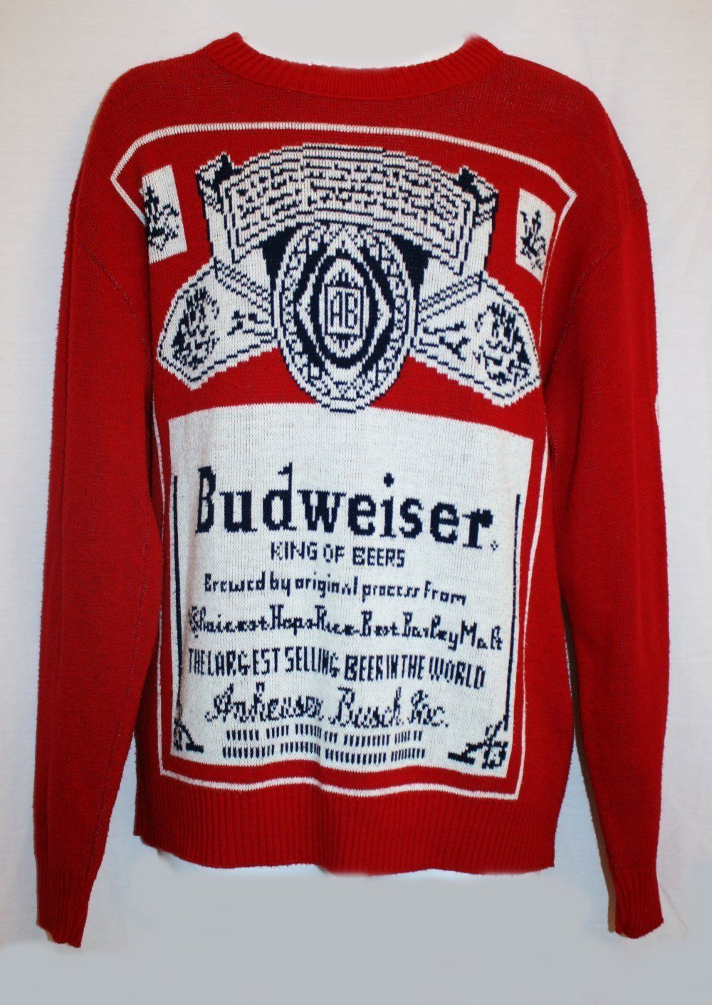 Vintage 1970s Budweiser Sweater Size Large Knit RARE Anheuser ...